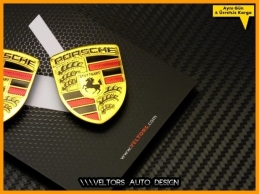 Porsche Body Araç Logo Amblem Seti