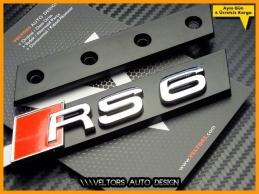 Audi A6 RS6 Ön Izgara Logo Amblem Seti
