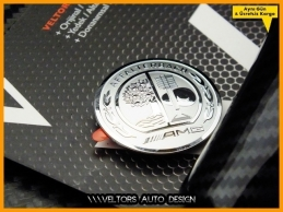 Mercedes Carbon / Karbon AMG  Logo Amblem Vites Topuzu Eki