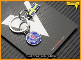 Saab Logo Amblem Özel 3D Krom Anahtarlık