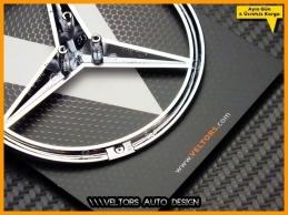 Mercedes W203 W211 W220 W208 W140 W164 W166 W117 R171 R172 Bagaj Yıldız Logo Amblem