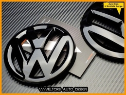 VW Golf 7 Piano Black Ön Izgara Bagaj Logo Amblem