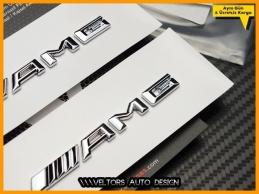 Mercedes AMG Yan Çamurluk Yazı Logo Amblem Seti