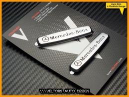 Mercedes Döşeme Paspas Logo Amblem Seti