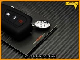 Toyota Logo Amblem Corolla Auris Yaris Corona Anahtarlık Anahtar Silikon Kılıf Kumanda Kabı