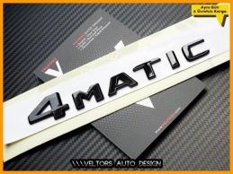 Mercedes Black / Siyah 4 Matic / 4Matic Bagaj Yazı Logo Amblem