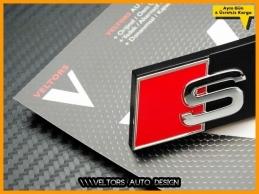 Audi A4 Orjinal S4 Ön Izgara Logo Amblem Seti