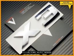 BMW E83 F25 X3 Sersi X3 M Stil Bagaj Yazı Logo Amblem