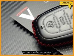 Audi Logo Amblem Deri Anahtarlık