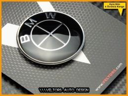 BMW Black Direksiyon Logo Amblem