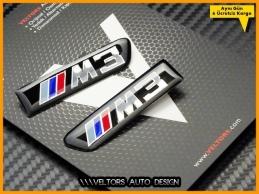 BMW E90 E92 E93 3 Serisi M3 Yan Çamurluk Izgara Logo Amblem Seti