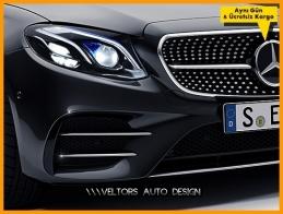 Mercedes W213 E Class AMG Krom Ön Tampon Izgara Eki