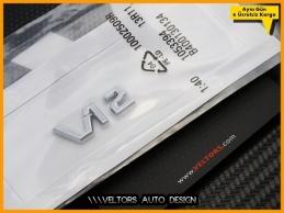 Mercedes Maybach V12 Konsol Kokpit Torpido Araç içi Logo Amblem