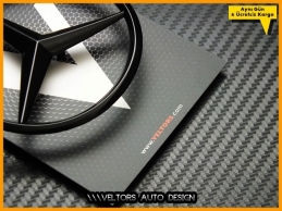Mercedes W117 CLA Class Piano Black Parlak Siyah Bagaj Yıldız
