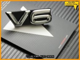 VW Arteon Passat Touareg Tiguan Amarok V6 Logo Amblem