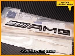 Mercedes Glossy Black AMG Bagaj Yazı Logo Amblem