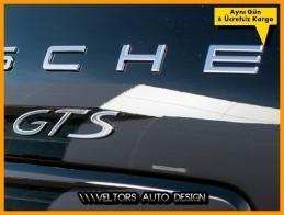 Porsche Panamera Cayman Carrera GTS Bagaj Yazı Logo Amblem
