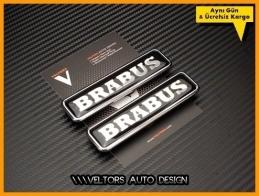 Mercedes Brabus Yan Yazı Logo Amblem Seti