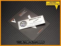 Mercedes AMG Affalterbach Plaket Logo Amblem