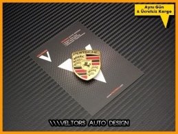 Porsche Airbag Direksiyon Logo Amblem