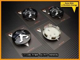 Peugeot Logo Amblem Jant Göbeği Göbek Kapak Seti
