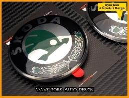 Skoda Octavia Fabia Roomster Superb Logo Amblem Seti