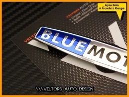VW BlueMotion Torpido Kokpit Logo Amblem