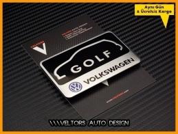 VW Golf Araç Plaket Logo Amblem