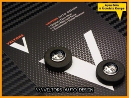 Alfa Romeo Anahtarlık Kumanda Anahtar Logo Amblem Seti