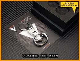 Mazda Logo Amblem Özel Krom Anahtarlık