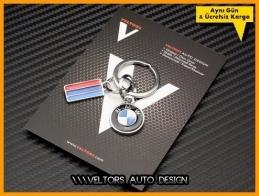 BMW M Logo Amblem Özel Krom 3d Flag BMW M Anahtarlık
