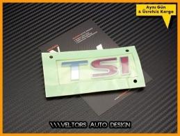 VW TSI Arka Bagaj Yazı Logo Amblem