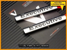 VW Executive Yan Çamurluk Logo Amblem Seti