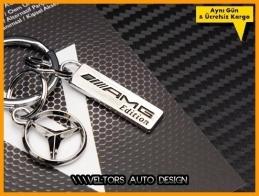 Mercedes Logo Amblem Özel Krom AMG Edition Anahtarlık
