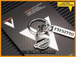 Nissan Logo Amblem Nismo Özel Krom Anahtarlık