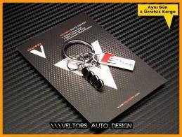 Audi S Line Logo Amblem Özel Krom 3D Anahtarlık