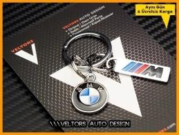 BMW M Logo Amblem Özel Krom 3d BMW M Anahtarlık