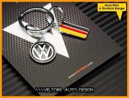 VW Logo Amblem Özel Krom 3d Anahtarlık