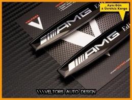 Mercedes Black / Siyah  AMG Edition Logo Amblem Seti