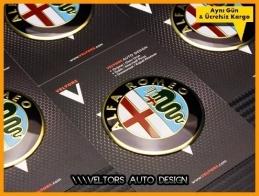 Alfa Romeo Jant Göbeği Logo Amblem Seti