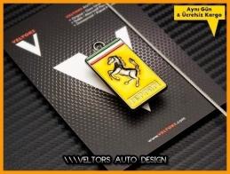 Ferrari Logo Amblem Özel Krom Anahtarlık