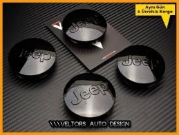 Jeep Logo Amblem Jant  Göbek Kapak Seti