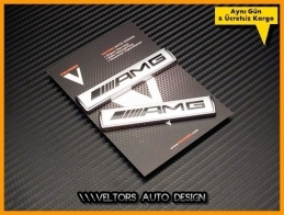 Mercedes AMG Edition AMG Yan Logo Amblem Seti